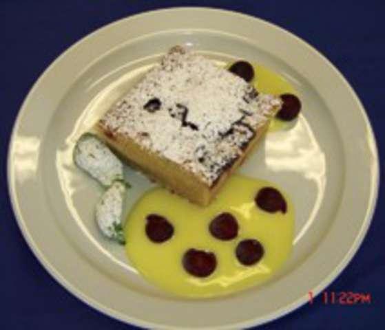 Kirschmichel mit Vanillesauce , Dessert: Schokopudding