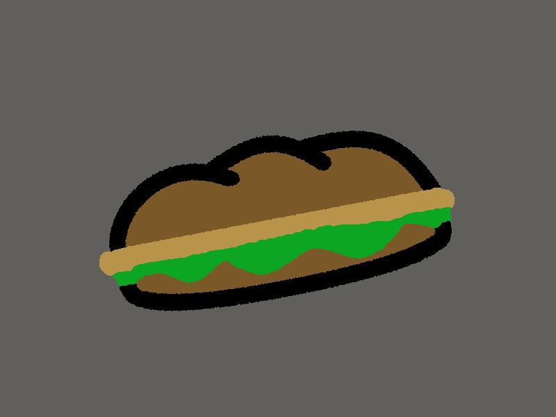 Schnitzelsandwich mit Hähnchenfleisch  (kalt)