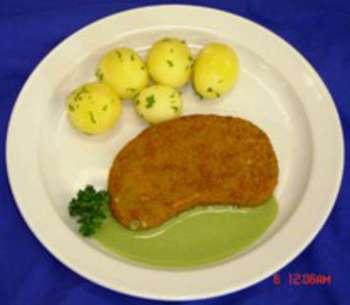 Sellerieschnitzel mit Kartoffel