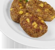 """""""Vitadelle"""" Rindfleisch-Gemüse-Frikadelle Herzhafte Bratensoße Steckrübengemüse """"naturell"""" Stampfkartoffeln"""