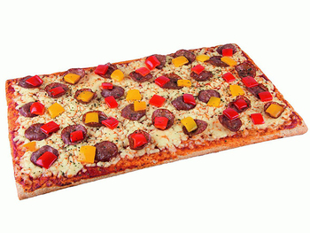 Fit-Pizza Salami-Paprika