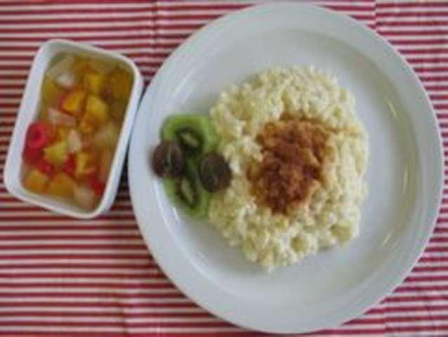 Vanille-Kokosmilchreis mit Ananaskompott