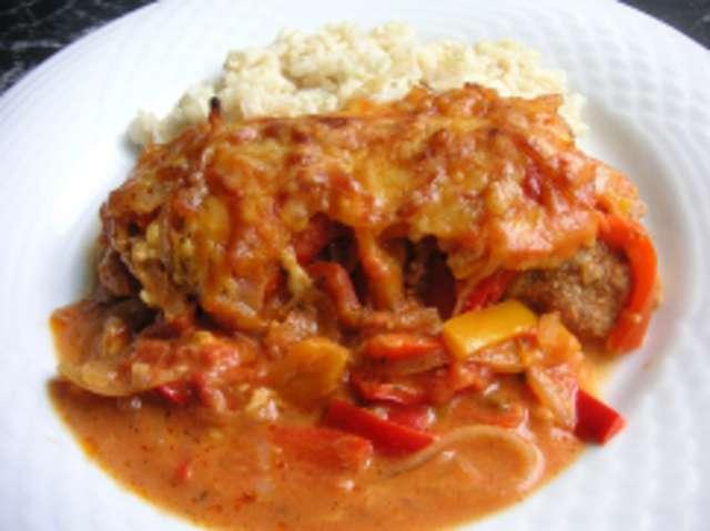Zigeunerschnitzel mit Reis