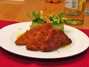 Tofuschnitzel mit Kartoffelsalat