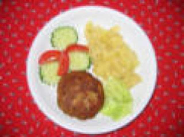 Fleischküchle mit Gemüsereis