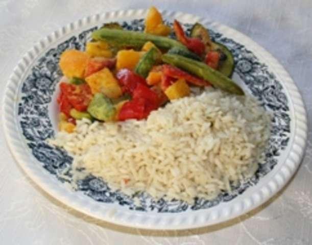 Grillgemüse-Mediterran mit Reis - Nachtisch