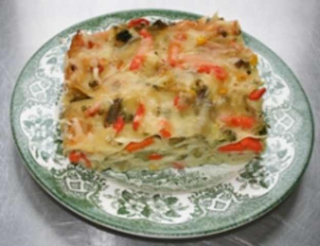 Gemüselasagne und Nachtisch