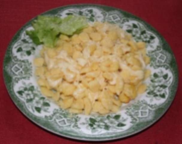 Käsespätzle und Salat