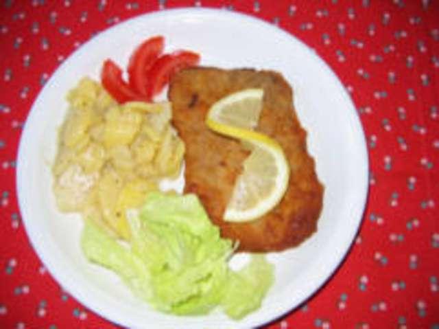 Puten Cordon Bleu mit Kartoffelsalat