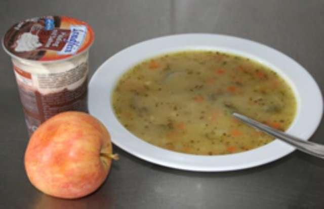 Grießsuppe - Joghurt - Obst