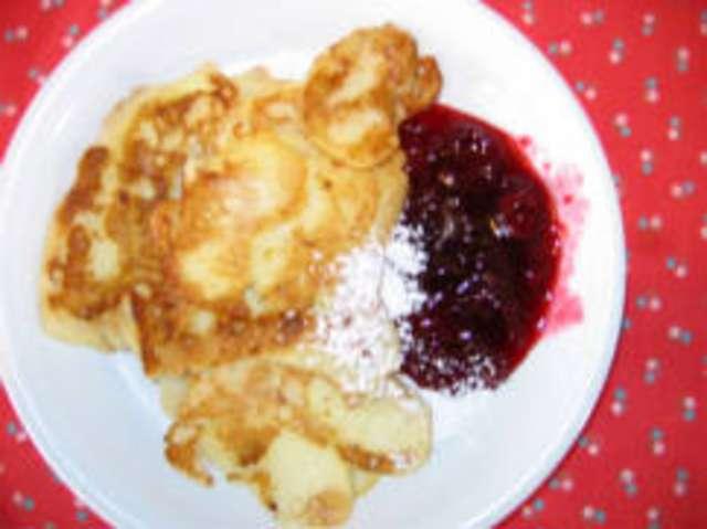 Pfannkuchen (a, c, g), Heiße Waldfrüchte, Obst