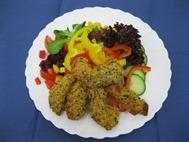 """Salatteller mit Chicken-Stripes """"Indien Style"""""""