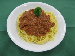 Spaghetti mit, Bolognese (Rind)