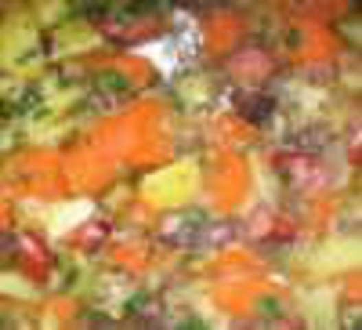 Gemüseeintopf mit Brot dazu Dessert (veget.)