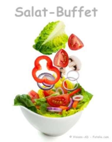 Salatbuffet Extra, gekochtes Ei