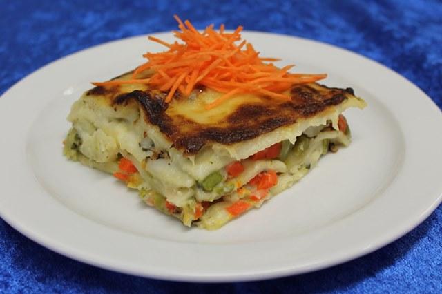 Lasagne mit verschiedenem Gemüse