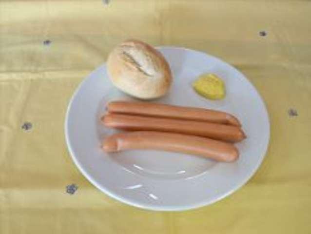 3 Wiener mit Semmel