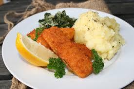 Backfisch mit Kartoffelpüree