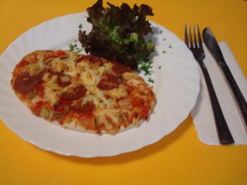 Peperoni-Salami Bäcker-Pizza 175g