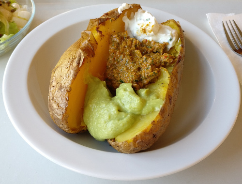 Ofenkartoffel mit verschiedenen Dip´s