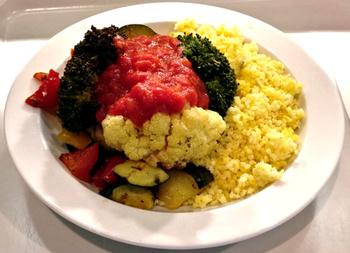 Hirse mit Gemüse