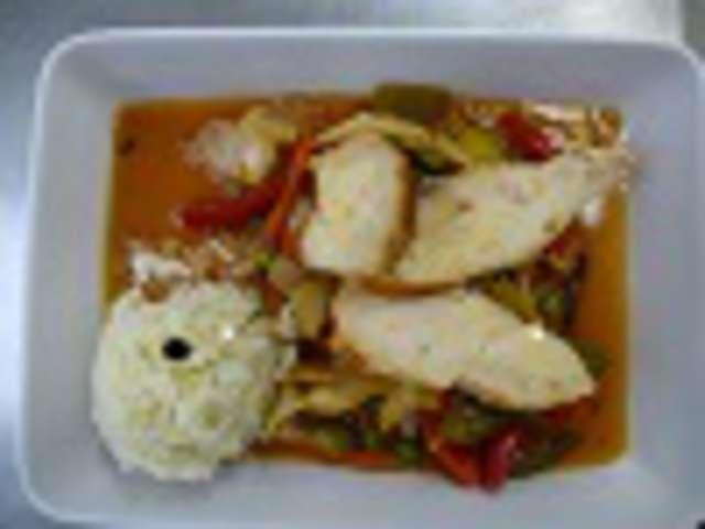 Asiatisches Gemüse mit Putenstreifen und Basmatireis
