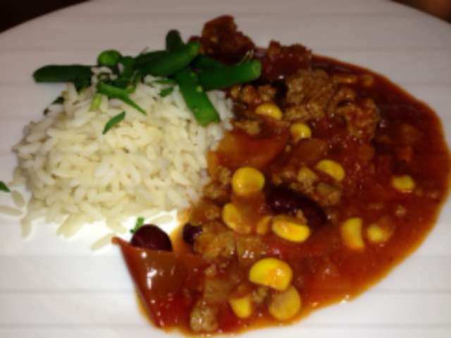 Chili Con Carne (Rind), Reis