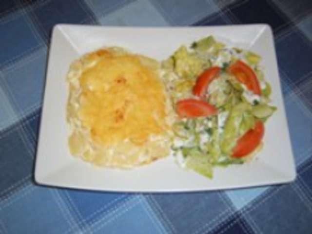 Kartoffel Gratin mit Gouda überbacken