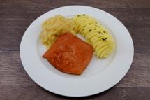 Bayrischer Fleischkäse mit Püree