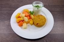 Cous-Cous Törtchen mit Kräuter-Minze Joghurt