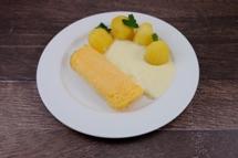 Eier-Omelette mit Schnittlauchsauce