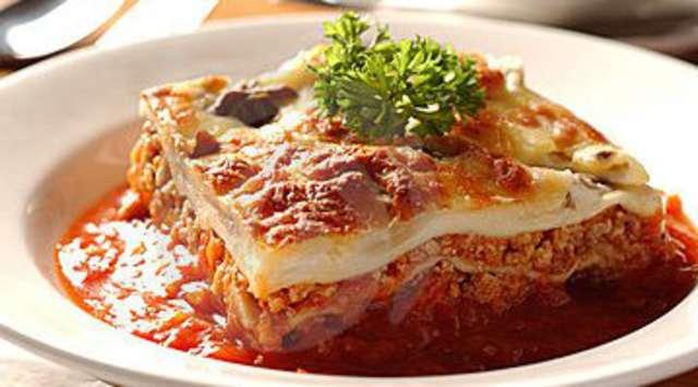 Hausgemachte Hackfleisch Lasagne
