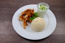 Hähnchen Gyros mit Reis
