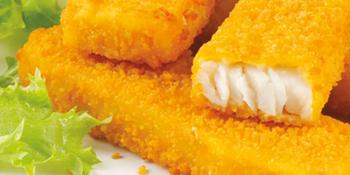 Fischstäbchen mit Remouladensauce und Kartoffelnocken