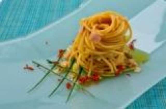 Spaghetti Carbonara mit Salat