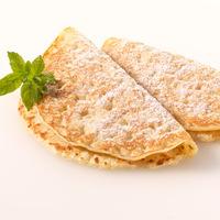 Fruchtkaltschale Eierpfannkuchen Nuss-Nougat-Creme Apfelmus Vanillepudding