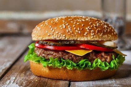 Hamburger (Rind) oder Cheeseburger zum selber belegen ! mit Wedges