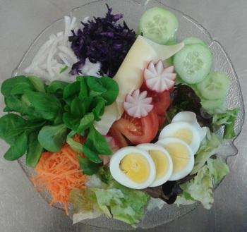 Chefsalat ohne Schinken