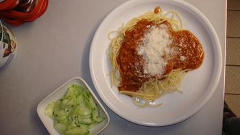 Spaghetti, Bolognese mit Käse