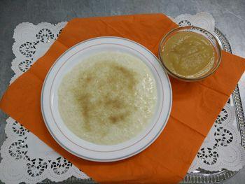 Vanille Milchreis , Zucker und Zimt