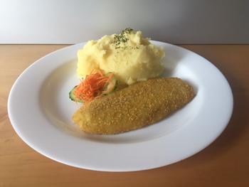 Fisch paniert - Kartoffelpüree