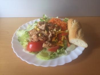 Salatteller - Putenstreifen