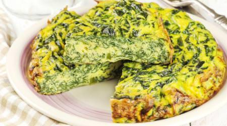 Spinat-Parmesan Frittata
